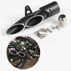 Motorcycle 51mm Dual-outlet Exhaust Tail Pipe Muffler Silencer Tip Accessories