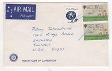 1979 AUSTRALIA Air Mail Cover CANNINGTON to EVANSTON IL USA Rotary International