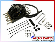 "UNIVERSAL TRANSMISSION OIL COOLER w/ fan 8"" WITH HOSE AND KIT FLUID COOLER NEW"