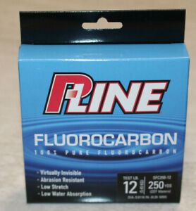 P-Line Fluorocarbon 12lb 250 Yard Fishing Line #SFC250-12