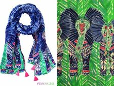 NWT Lilly Pulitzer Resort Tasseled Scarf Resort Navy Costa Verde Engineered