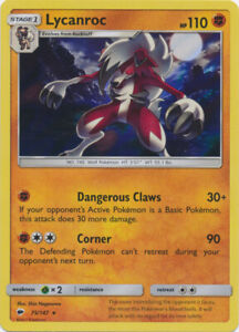 Lycanroc 75/147 Holo Rare ~ Pokemon S&M Burning Shadows ~ Pack Fresh