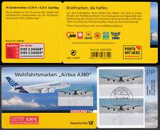 Bund MH 74 gestempelt 2008 10 x 2676 Airbus A380 Vollstempel Bremen Ersttag