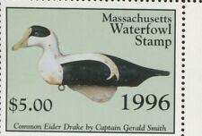 MASSACHUSETTS #23 1996 STATE DUCK EIDER DECOY by Christine Wilkinson