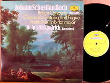 DGG JS Bach KIRKPATRICK Harpsichord Italian Concerto/Fantasia 2535 213 NM