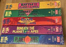 Classic Vhs Planet of the Apes 1-5 Used Original/Beneath/Escape/C onquest/Battle