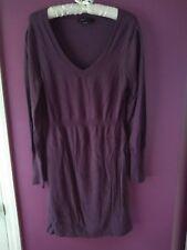 Bcbg maxazria Purple Sweater Vneck Longsleeve dress Size Large