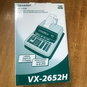 Sharp VX2652H Two-Color Printing Calculator Black/Red Print 4.8 Lines/Sec