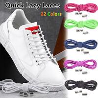 1Pair Elastic Shoe laces No Tie ShoeLaces Kids Adult Sneakers Quick Lazy Laces