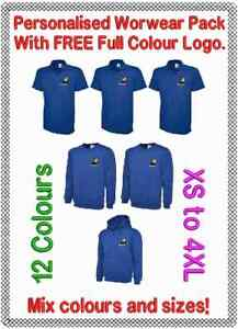 Workwear Uniform Pack. Personalised Printed (Embroidered) Logo of  Your Choice.