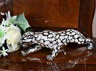 Italian Silver Chrome Effect Tiger Leopard Figurine Ornament Home Decoration