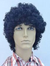 Black  Curly Men's  Fancy Dress Wig (Short Curly)