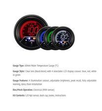 Genuine ProSport Evo 60mm Agua Temp grados C 4 color con pico y advertencia