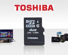 Toshiba 4GB micro SD SDHC Memory Card C4 TF Card C04G Class 4 For Phones Cameras