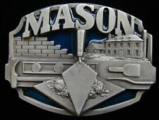 MASON BELT BUCKLE BUCKLES SOLID PEWTER NICE LOOK!