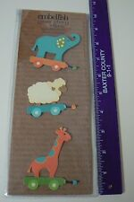 Embellish Your Story Magnet PULL TOY SET 3 Asst Elephant Lamb Giraffe Wagons NEW