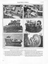 Vintage Print/Plate 1929 Encyclopedia Britannica, MACHINE-TOOLS, LATHE PLANER