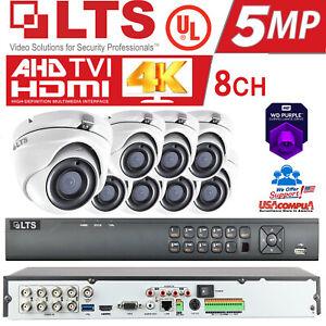 LTS 8 Cameras Security System Kit 5MP H.265+ HD-TVI 4K/ 2TB HDD / IP67 UL