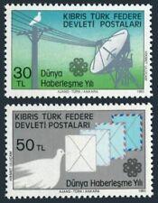 Turkish Cyprus 132-133,MNH.Michel 132-133. World Communications Year,1983.Doves.