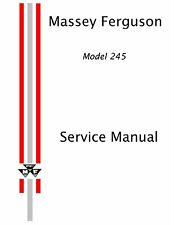 Massey Ferguson 245 Tractor Service Manual Reproduction