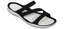 Crocs Sandals Swiftwater Beach Holiday Womens Slip On Graphic Open Toe UK 4-8