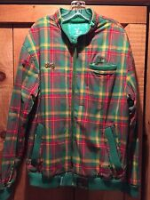 Lng LN Geans Roots And Equipment Green Plaid Check Light Jacket Size Large NEW