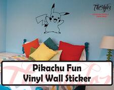 Pokemon Pikachu Fun Custom Wall Vinyl Sticker
