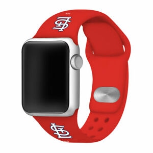 GAME TIME St. Louis Cardinals Silicone Sport Band Fits The Apple Watch
