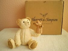 Sherratt & Simpson : Resin Teddy Bear : Bear Sitting With Hand Puppet (56921)