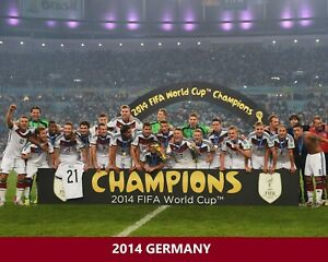 2014 GERMANY 8X10 TEAM PHOTO SOCCER PICTURE WORLD CUP CHAMPIONS
