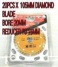 "20 x Diamond TURBO Blade  4"" 105mm electric Angle Grinder masonry brick concre"