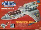 CAPTAIN POWER POWERJET XT-7 1986 MATTEL, JET, BOX, FIGURE, VHS