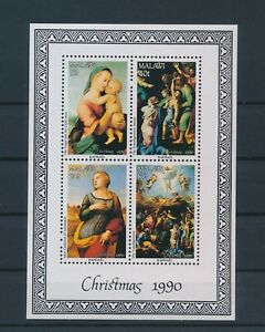 LN22819 Malawi 1990 christmas Raphael art paintings good sheet MNH