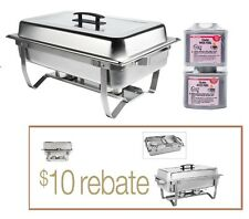 HD Stainless FOLDING CHAFING  Dish Set CHAFER WARMER CATERING HOTEL 100+ SOLD!