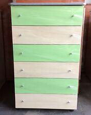 Settimino mobile cassettone in melaminico montato verde e acero cm 75 ciliegi