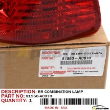 02-04 TOYOTA AVALON FACTORY OEM 81550-AC070 REAR (RH) SIDE OUTER TAIL LIGHT LAMP