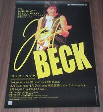 original Jeff Beck Japan Promo Only 72 x 51 cm Tour Poster official 2010 rare!