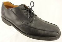 DR MARTENS Oxford Shoes Men's 10 M Black Leather Square Bicycle Toe Casual
