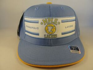 Minneapolis MPLS Lakers NBA Reebok Fitted Hat Cap Size 7 3/4 Blue White Gold