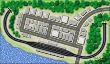 T Gauge 1:450 Scale Track Plan 2: Causeway Train Track Layout