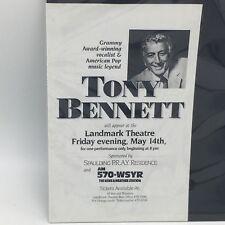 TONY BENNET LANDMARK THEATRE FLYER HANDBILL