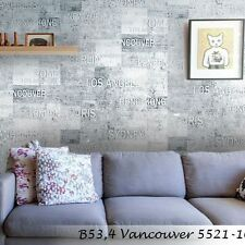 Vinyl Wallpaper modern wallcovering cities new york gray textured rustic 3D roll