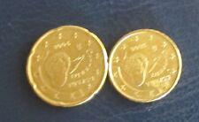 10 und 20 Cent Euro Münze Spanien Prägejahr 2008 aus Umlauf Sammlerstück!
