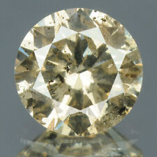 0.80 cts. CERTIFIED Round Sparkly Light Brown Color Loose Natural Diamond 10811