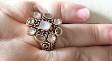 Copper New Barse Ring, Msrp $105 Size 6 Smoky & Clear Quartz with
