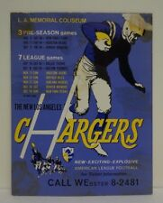 Vintage Los Angeles Chargers AFL Promo Display San Diego NFL
