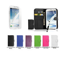 New Wallet Pouch card slot Case Cover For Samsung Mobile /Tempered Glass UK SELL