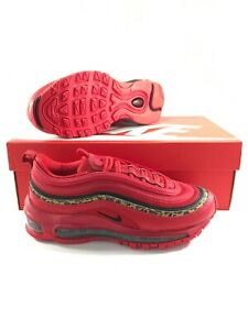 Nike Air Max 97 Women's Size 6 Leopard Pack University Red Black BV6113 600 NEW