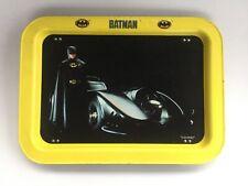 Batman VINTAGE 1989 Metal TV Dinner Lap Tray Michael Keaton