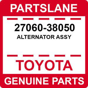 27060-38050 Toyota OEM Genuine ALTERNATOR ASSY